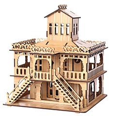 baratos -Quebra-Cabeças 3D Quebra-Cabeça Construções Famosas Casa De madeira Madeira Natural Unisexo Dom