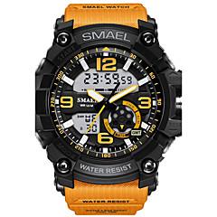 Herre Sportsklokke Moteklokke Digital Watch Armbåndsur Digital LED Vannavvisende Dobbel Tidssone alarm Selvlysende Gummi Band Kamuflasje