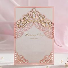 Format Enveloppe & Poche Invitations de mariage Cartes d'invitation Style classique Papier gaufré