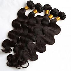 cheap Hair Extensions-5 Bundles Brazilian Hair Body Wave / Loose Wave Human Hair Natural Color Hair Weaves / Hair Bulk 8-26 inch Human Hair Weaves Hot Sale Human Hair Extensions