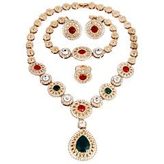 abordables Parures de Bijoux-Femme Plaqué or Ensemble de bijoux - Classique / Mode / Style Simple Or Collier Pour Mariage / Soirée / Fiançailles