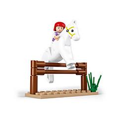 tanie Klocki magnetyczne-Klocki Figurki z klocków Zabawy w odgrywanie ról Zamek Dom Konik Animals Dla dziewczynek Zabawki Prezent