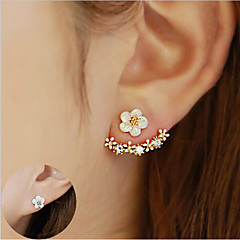 Women's Stud Earrings Crystal Flower Style Sterling Silver Crystal Flower Jewelry For Wedding Party Special Occasion Anniversary Birthday
