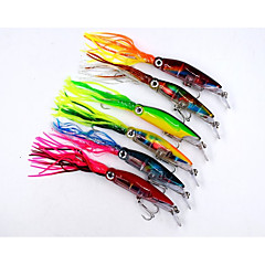 6pcs/lot Big Size Hard Fishing Lure Fish Bait 24cm/40g Fishing Tackle 6 Color Available Squid Lure Fishing Bait