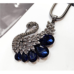 Women's Pendant Necklaces Rhinestone Swan Crystal Alloy Fashion Jewelry For Wedding Party Birthday Graduation Gift Daily