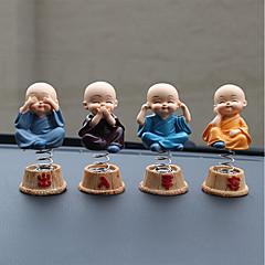 DIY automotive ornamenter tegneserie anime lille munk dukker bil anheng&Ornamenter harpiks