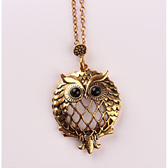 cheap Necklaces-Women's Pendant Necklace - Metallic Animal Design Owl Necklace For Wedding Party Birthday Graduation Gift Daily