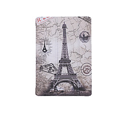 For  Apple iPad (2017) Case Cover with Stand Flip Pattern Auto Sleep/Wake Up Full Body Case Eiffel Tower Hard PU Leather iPad Air 1 2 Mini 1234