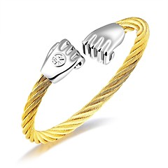 cheap Men's Jewelry-Men's Bangles AAA Cubic Zirconia Luxury Tassel Basic Fashion Adorable Cubic Zirconia Titanium Steel Rose Gold Plated Circle Geometric Star
