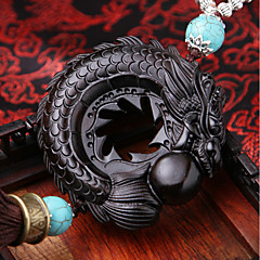 DIY Auto Pendants Ebony Dispyyosspp Decoration Bless the good luck Car Pendant & Ornaments Wooden