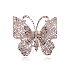 cheap Brooches-Women's Brooches Adorable Simple Style Alloy Butterfly Animal Jewelry For Party Daily
