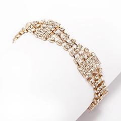 בגדי ריקוד נשים שרשרת וצמידים ריינסטון אופנתי אבן נוצצת סגסוגת תכשיטים עבור חתונה יומי