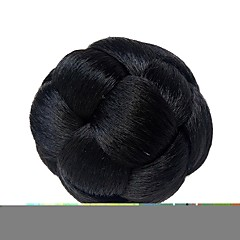 cheap Wigs & Hair Pieces-chignons Classic / Halloween / Christmas Hair Bun Updo Clip In Synthetic Hair Hair Piece Hair Extension Classic / Halloween / Christmas Daily Natural Black