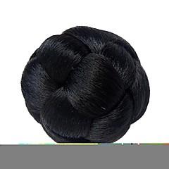 זול קוקו-שחור קלסי לשנה החדשה חג מולד חג ליל כל הקדושים גולגול תסרוקת גבוהה איכות גבוהה שיניון (פקעת) נתפס עם קליפס שיער סינטטי חתיכת שיער