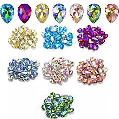 70 Nail Art Decoration tekojalokivi Pearls meikki Kosmeettiset Nail Art Design