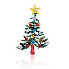 Herrn Damen Broschen Imitation Diamant Chrismas Klassisch Aleación Schmuck Für Party Weihnachten