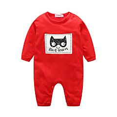 billige Babytøj-Baby Unisex Tegneserie Dyr Langærmet En del