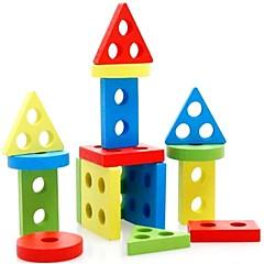 교육용 장난감 나무 퍼즐 원통형 삼각형 직사각형 남여 공용