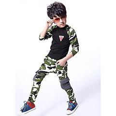 tanie Odzież dla chłopców-Dzieci Dla chłopców Kamuflaż Długi rękaw Bawełna Komplet odzieży