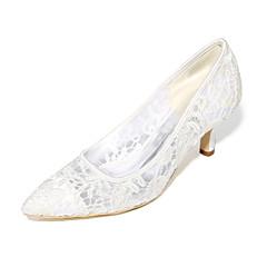 Women's Shoes Net Spring Summer Basic Pump Wedding Shoes Stiletto Heel Pointed Toe For Wedding Dress Ivory Blushing Pink Black White
