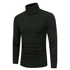 Herren Standard Pullover-Lässig/Alltäglich Einfach Solide Rollkragen Langarm Polyester Herbst Winter Mittel Dehnbar