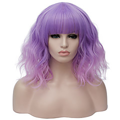 cheap Wigs & Hair Pieces-Synthetic Wig Women's Water Wave Red Synthetic Hair Red / Blue / Blonde Wig Short Capless Gold Pink Bright Purple Black / Dark Green / Brown