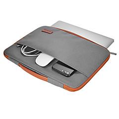 dodocool 13-13.3 inch laptop nylon rits hoesje ultrabook draagtas notebook beschermhoes deksel met pu leer handvat voor appel 13 macbook