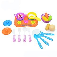 Toy kuchyňských sestav Toy Foods Hračky Jídlo Chlapci Dívčí 21 Pieces