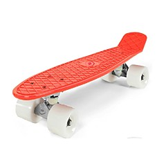 22.5 Inch Complete Skateboards Ammattilaisten Muovit ABEC-5-Punainen Yhtenäinen