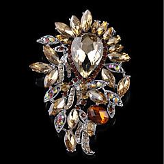 Dámské Brože Šperky Základní design Slitina Circle Shape Šperky Pro Svatební Párty