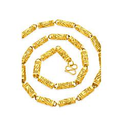 Homens Colares em Corrente Quadrado Forma Geométrica Chapeado Dourado Geométrico Hip-Hop Jóias Para Rua Bandagem