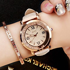 cheap -Women's Fashion Watch Wrist watch Casual Watch Chinese Quartz / PU Band Luxury Sparkle Vintage Casual Elegant Black White Blue Pink