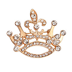 cheap Brooches-Women's Brooches Crystal Rhinestone Elegant Fashion Gold Plated Alloy Crown Jewelry For Daily Evening Party