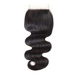 cheap Closure & Frontal-Classic Body Wave 4x4 Closure Swiss Lace Remy Free Part Smart High Quality Daily