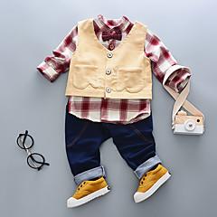 billige Tøjsæt til drenge-Drenge Stribe Bomuld Tøjsæt Blå