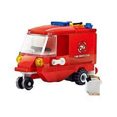 אבני בניין רכב מכבי אש צעצועים משאית 1 חתיכות