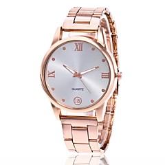 cheap Men's Watches-Men's Women's Quartz Wrist Watch Chinese Casual Watch Metal Band Charm Dress Watch Silver Gold Rose Gold