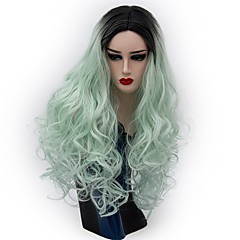 cheap Wigs & Hair Pieces-Synthetic Wig / Cosplay Wig Women's Wavy / Natural Wave Red Synthetic Hair Red / Green / Purple Wig Long Capless Black / Green Black / Purple Black / Red
