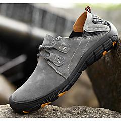 Tênis de Corrida Sapatos de Montanhismo Homens Respirabilidade Esportes Relaxantes Cano Baixo Pele Borracha Equitação Corrida