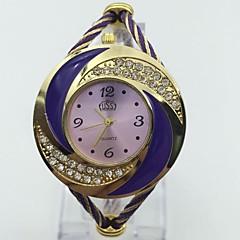 Kadın's Moda Saat Bilezik Saat Çince Quartz Metal Bant Halhal Mor