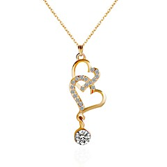 cheap Necklaces-Women's Choker Necklace / Pendant Necklace / Chain Necklace - Heart Gold Necklace For Party, Daily