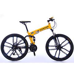 אופני הרים מתקפל אופניים רכיבת אופניים 27 מהיר 700CC/26 אינץ' SHIMANO M370 דיסק בלימה שמן מזלג שיכוך אלומיניום אלומיניום Aluminum Alloy