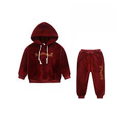 tanie Odzież dla chłopców-Dzieci Dla chłopców Jendolity kolor Bawełna Komplet odzieży