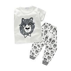 billige Tøjsæt til drenge-Baby Drenge Trykt mønster Kortærmet Bomuld Tøjsæt