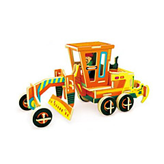 3D Puzzles Motor Grader Toys Excavating Machinery Vehicles Kids 1 Pieces