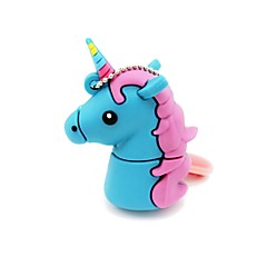 32gb usb 2.0 cartoon unicornio cavalo usb flash drive disco fofo memory stick pen drive presente pen drive