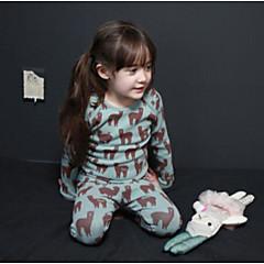 お買い得  女児 下着&ソックス-女の子 動物 長袖 ネグリジェ