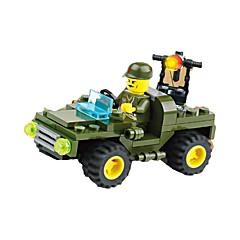 אבני בניין רכב משטרה צעצועים מכונית 1 חתיכות