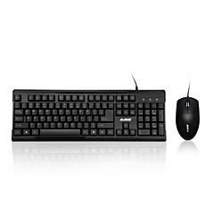 ajazz x1080 usb langallinen kannettava tietokone pro toimisto näppäimistö hiiri combo