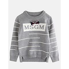 billige Overdele til drenge-Baby Drenge Geometrisk Langærmet Bomuld Bluse Grå